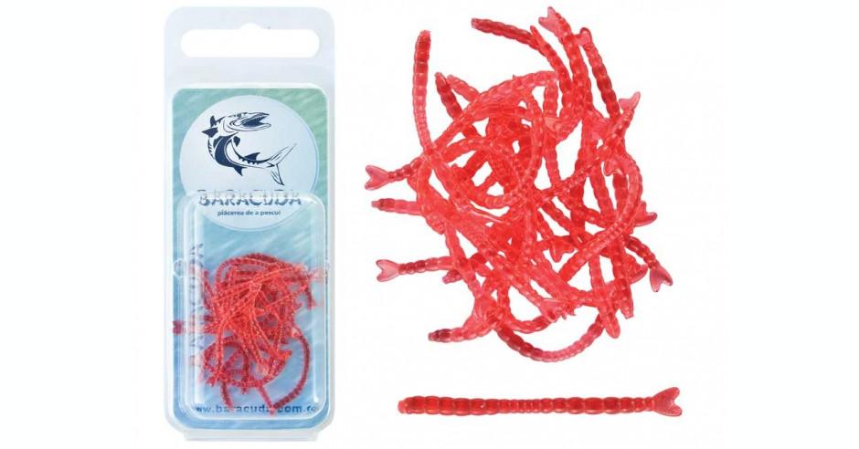 Noul vierme de pescuit pentru pescuitul de adiere moale 45PCS / LOT mare viermi roșii