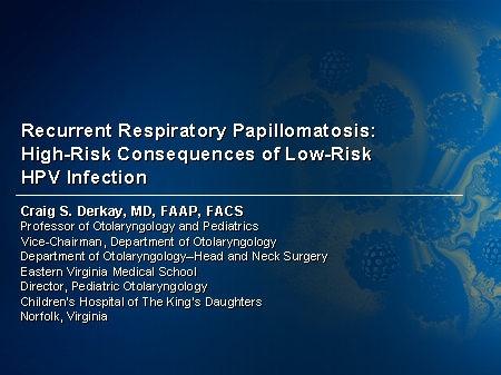 Respiratory papillomatosis article