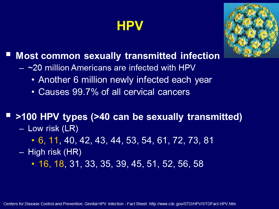 High risk hpv causes cancer.