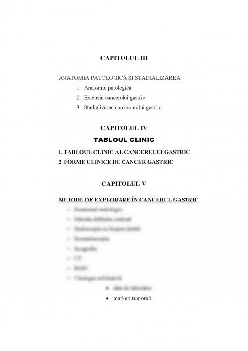 cancerul gastric etiopatogenie