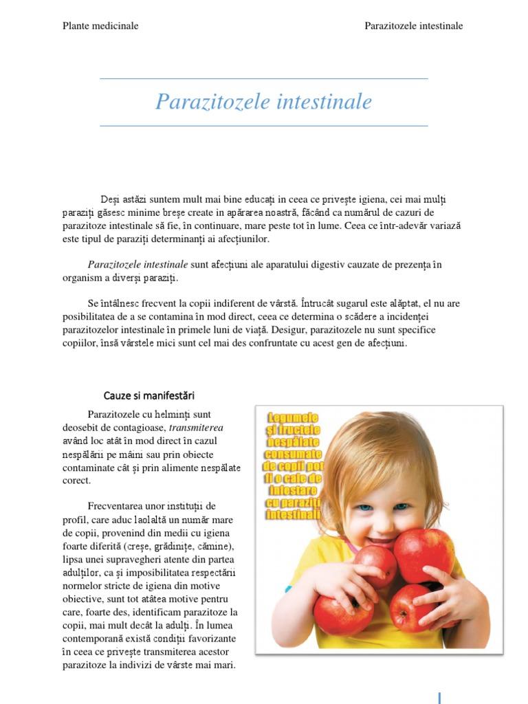 tipuri și simptome ale paraziților