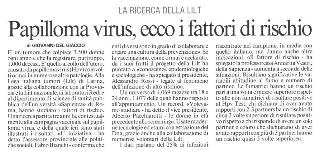 Cose il papilloma virus sintomi