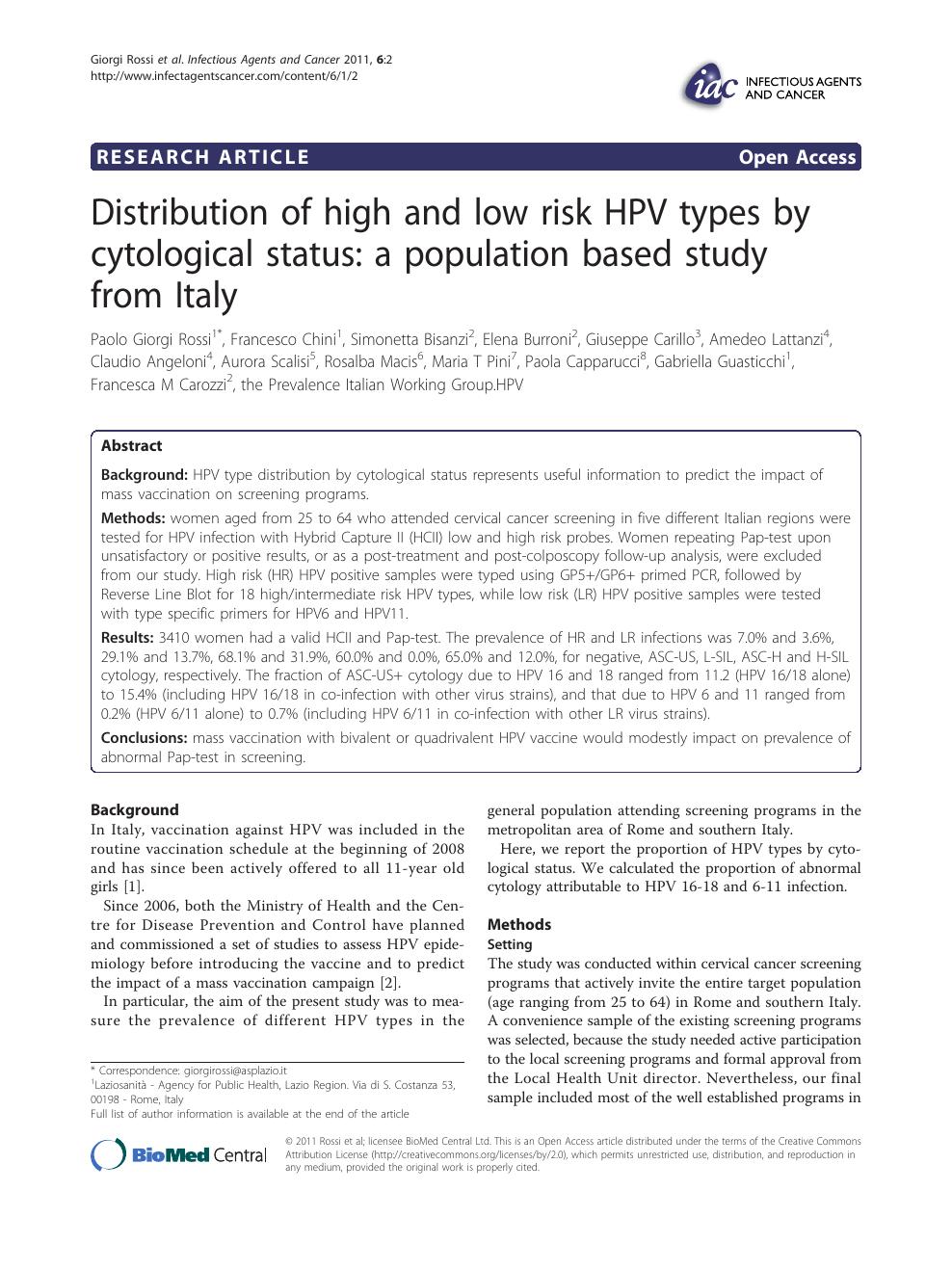hpv high low risk qiagen la gi papiloma boca
