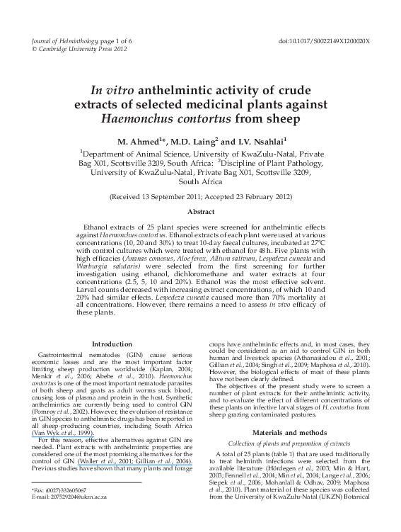 anthelmintic study definition idei de vierme