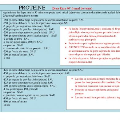 Metabolismul Proteic