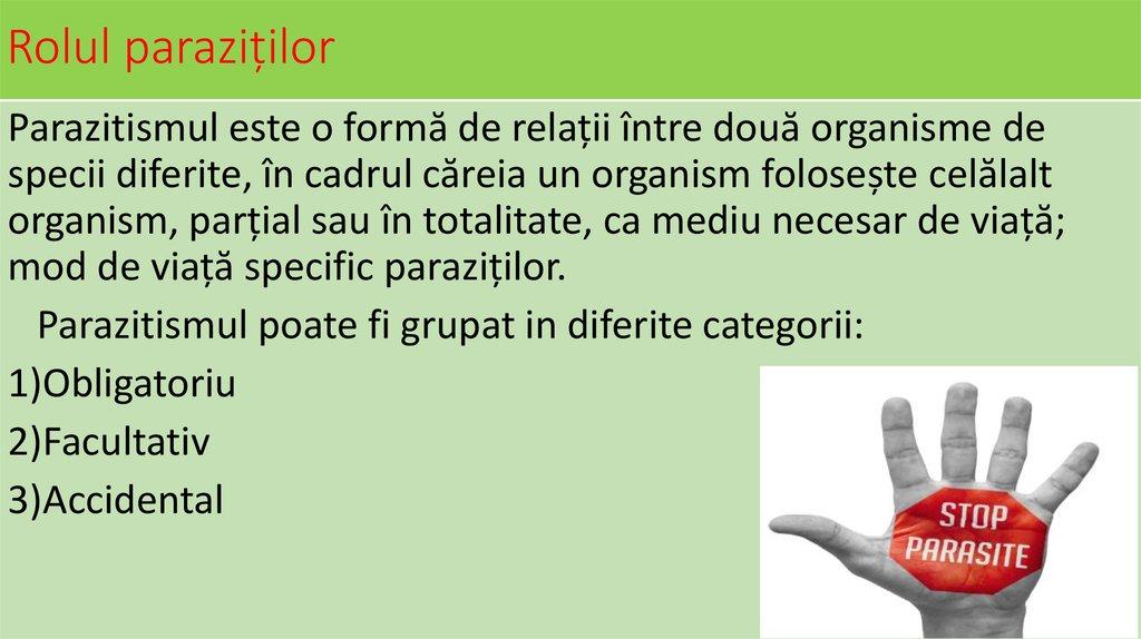 Sisteme parazitare - online presentation