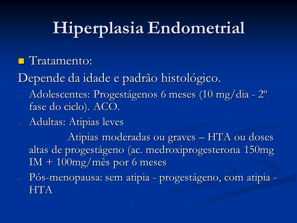 Cancer endometrial tratamento -