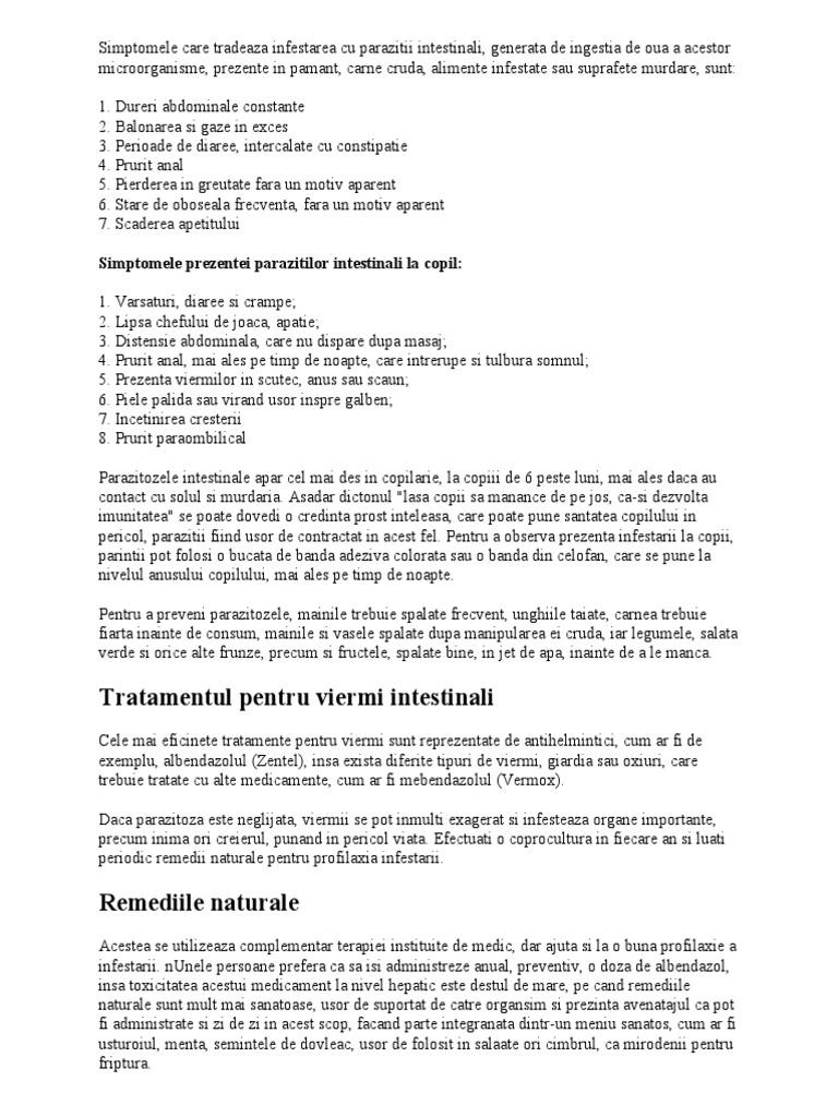 simptome de infecție cu vierme)