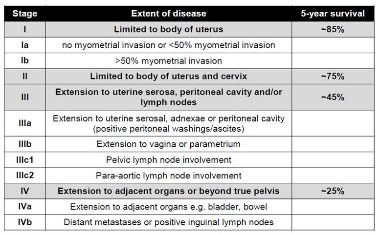 Tumor markers in endometrial cancer Endometrial cancer marker