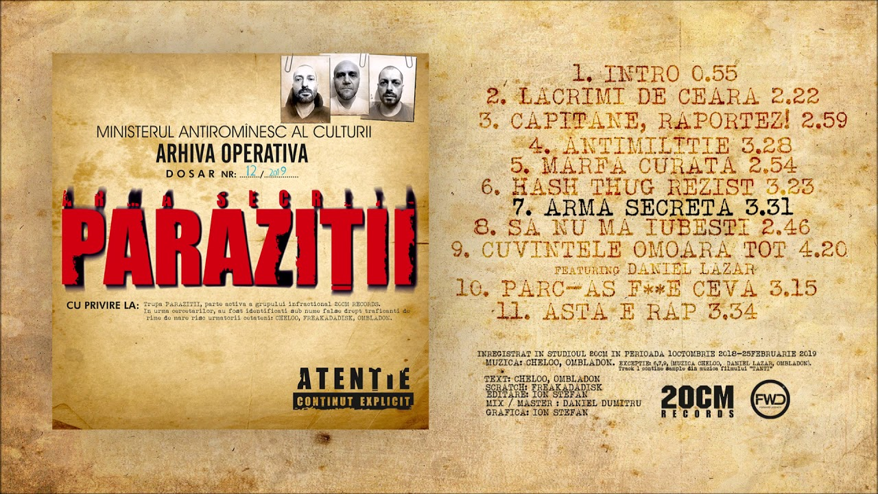 Parazitii. 2 CD for the road
