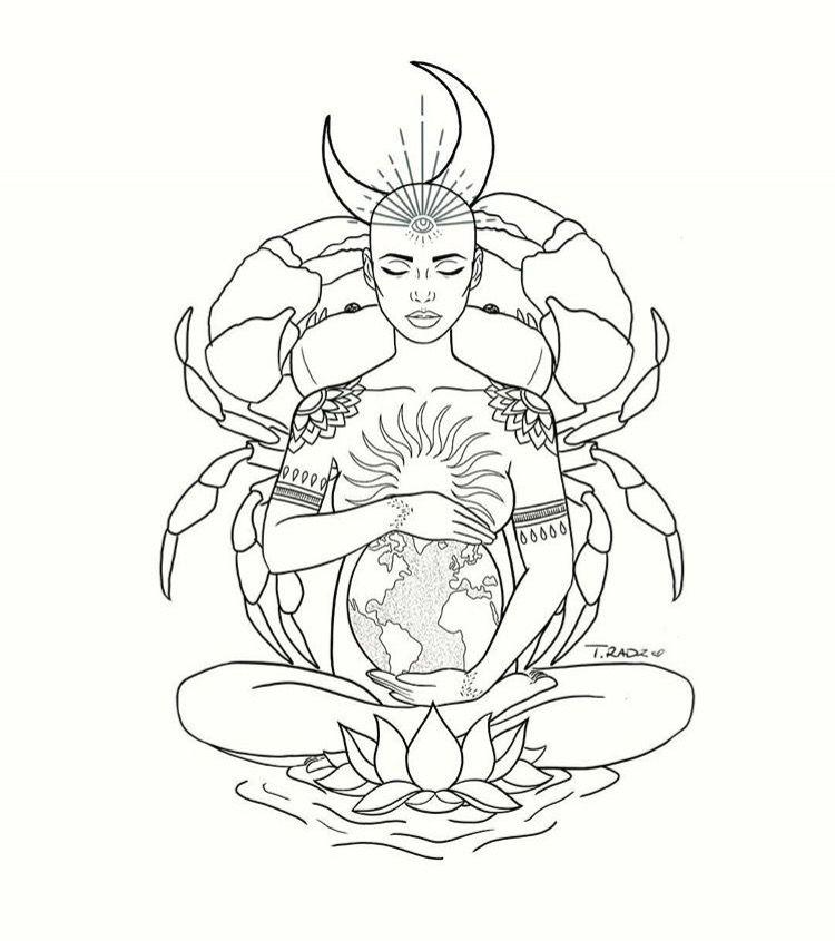 feminine cancer tattoos